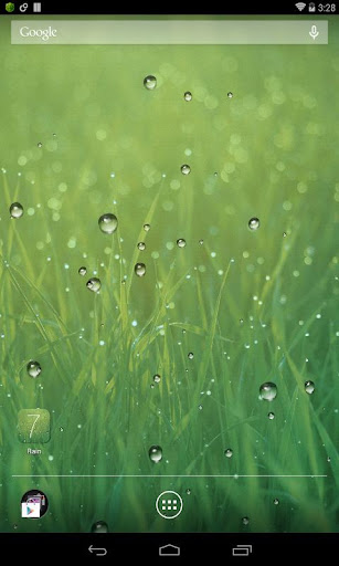 雨滴動態桌布 Rain