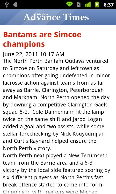 Wingham Advance-Times- screenshot