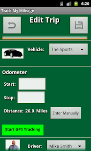 Track My Mileage - screenshot thumbnail