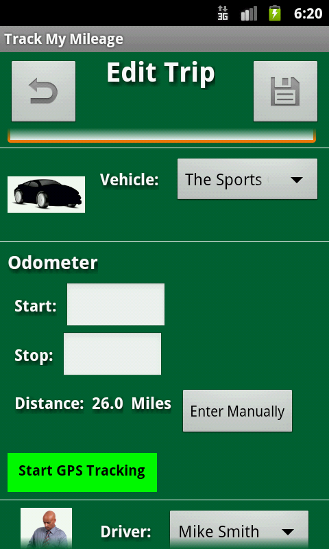Track My Mileage - screenshot