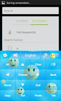 Screenshot of Emoji Keyboard Theme App