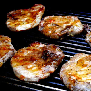 Apricot Glazed Grilled Pork Chops