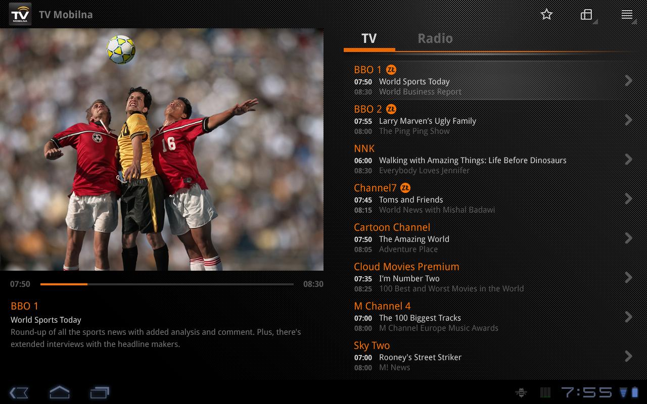 TV Mobilna M-T 5000 Tablet - screenshot