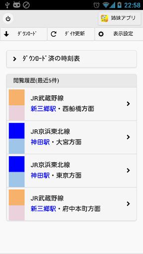 電車オフライン時刻表