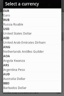 Exchange rate. All currency - screenshot thumbnail