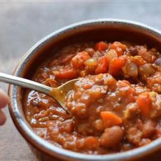 Lucie's Vegetarian Chili.