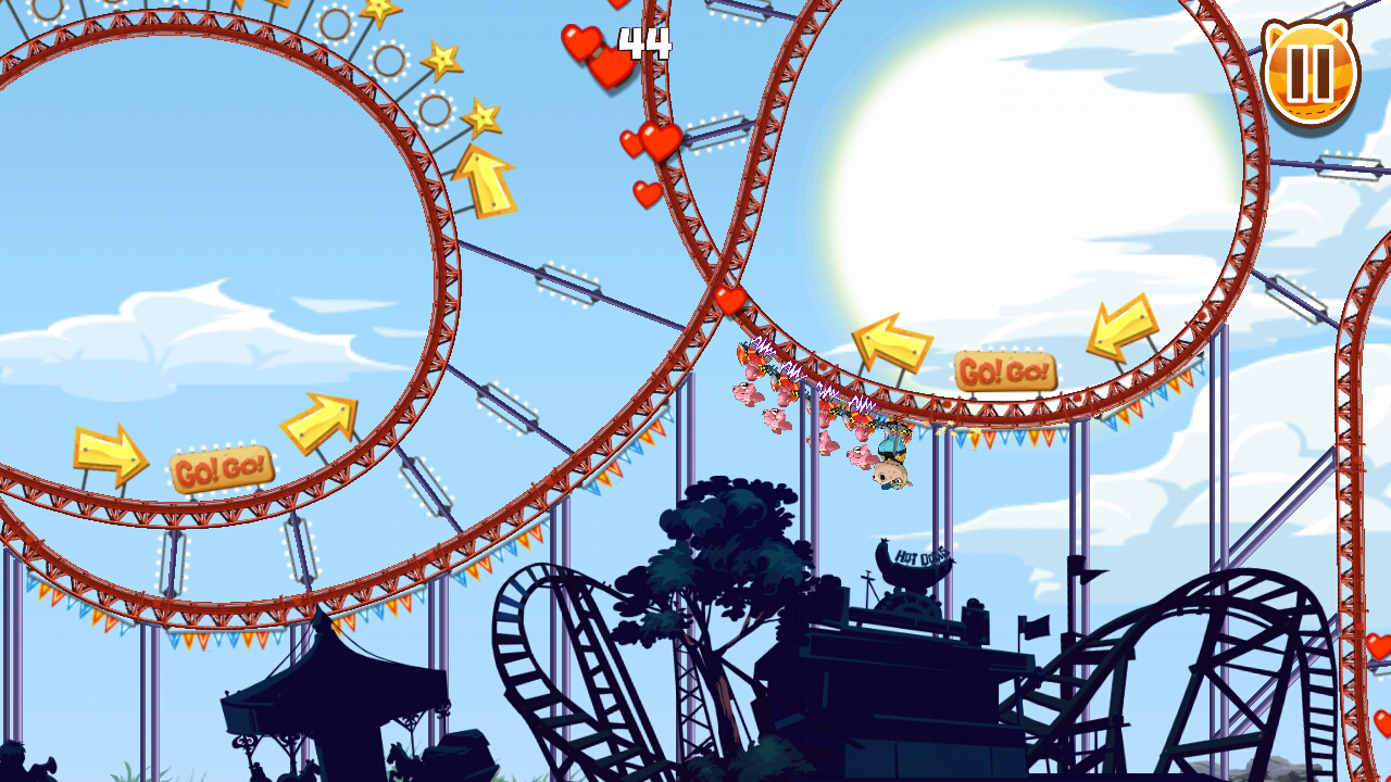 Nutty Fluffies Rollercoaster- screenshot