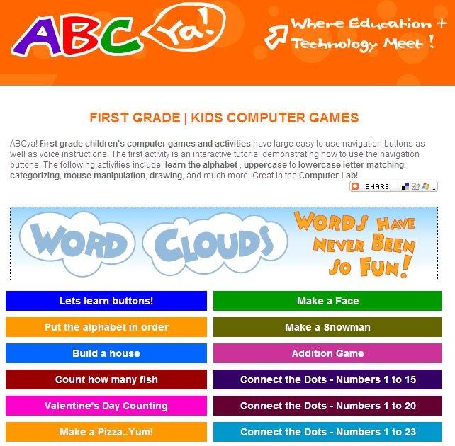 Lpcomputerlab: Grade 1 ABCya