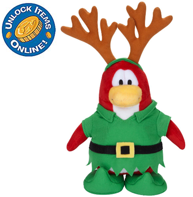 Elf Reindeer Penguin Plush Toy