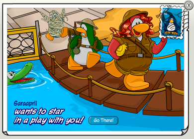 Golden Puffle Postcard