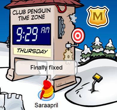 Club Penguin time Zone Fixed :)