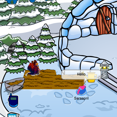 Golden Feather in Saraapril's Igloo :)