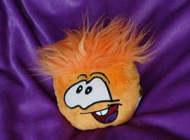 Orange Puffle Plush Toy :)