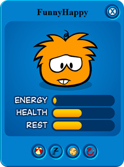 Orange Puffle Play Card :)