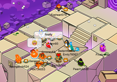 Orange Puffle Party in Box Dimension :)