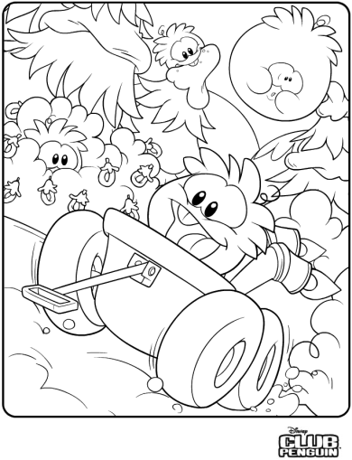 Orange Puffle Coloring Page :)