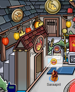 Door to Fire Dojo in Club Penguin