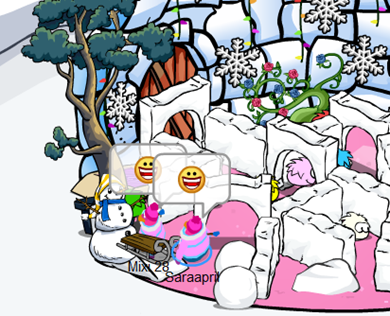 Igloo Maze in Club Penguin