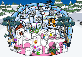 Maze in Igloo Club Penguin