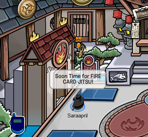 Secret Ninja Hideout in Club Penguin