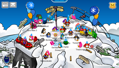 Ski Hill in Club Penguin