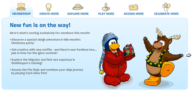 Fun for Memberi in Club Penguin