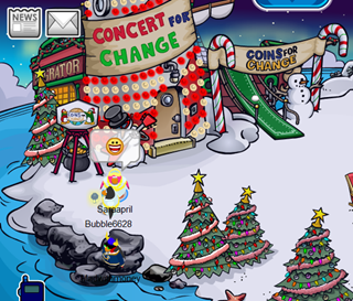Holiday Party in Club Penguin 2009