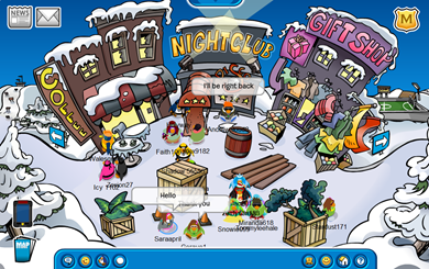 Club Penguin on Safe Chat :)