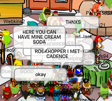 Rockhopper at Pizza arlor  :)