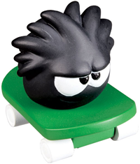 Black Puffle on skateboard :)