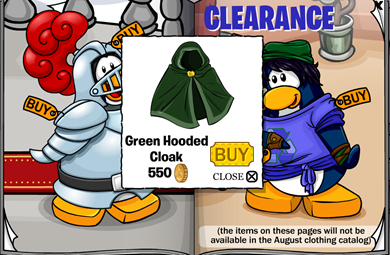 Green Hooded Cloak :)