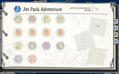 Stamp Book Jet Pack Adventure :)