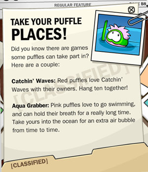 Takkke your Puffle Places :)