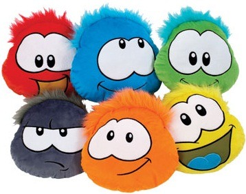 Club Penguin Puffle Cushions :)
