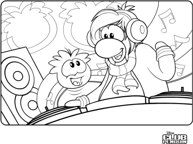 cadence club penguin coloring pages - photo#2