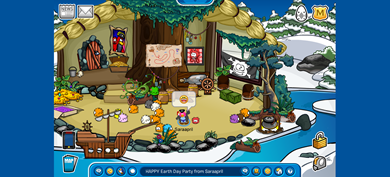 Saraapril's Rockhopper Igloo HAPPY Earth Day Party from Saraapril Wider Widescreen :)