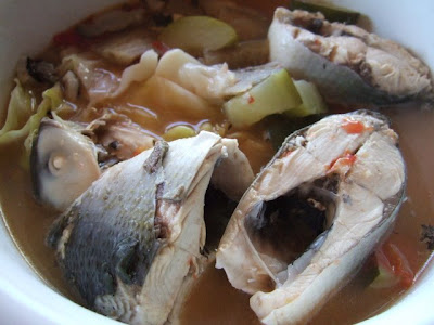 Kusina Ni Manang Sinigang Na Bangus Milkfish In Sour Soup With Cucumber And Cabbage