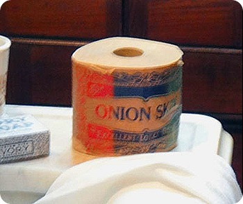 150 year old toliet tissue.