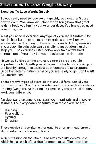 Fat Burning Workouts - screenshot