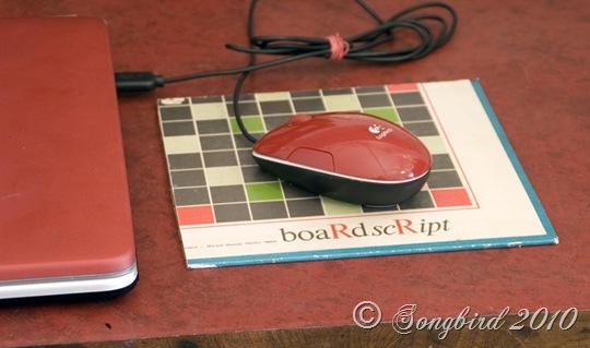 Board Script Mouse pad