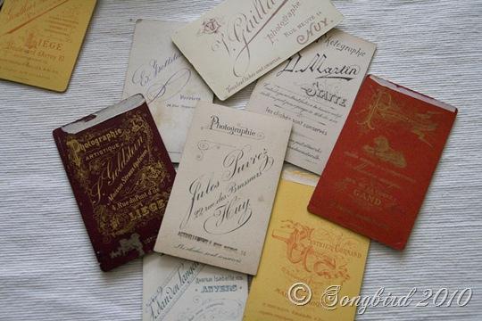 Cabinet Cards Backs