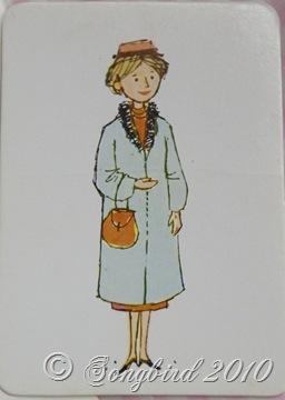 French Flash Card Femme