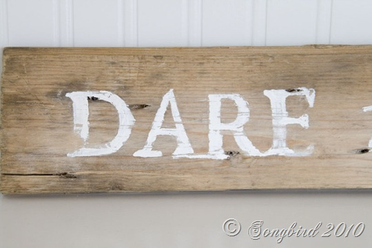 Handpainted guest room sign 1