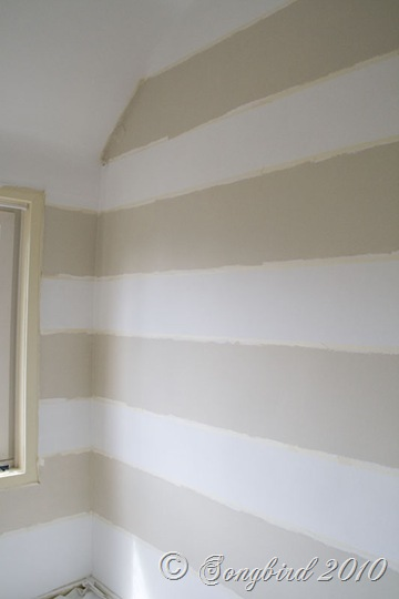 Painted Stripes Dark Guest Room