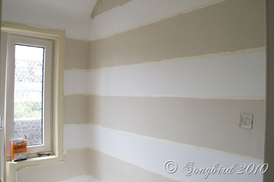Painted Stripes Dark Guest Room 2