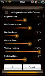 Mixer CyanOrangen - CM7 Theme - screenshot thumbnail