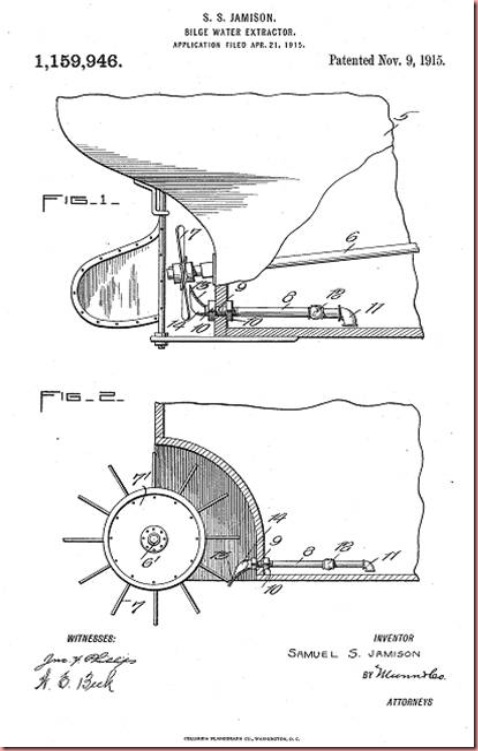 Jamison SS BilgeWater Extractor invention