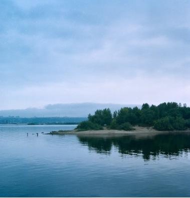 Река Волга в сентябре