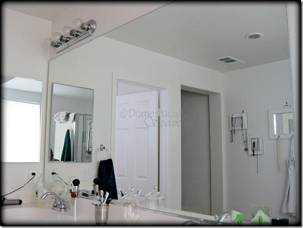Master bath part 1 mirror makeover domestically speaking