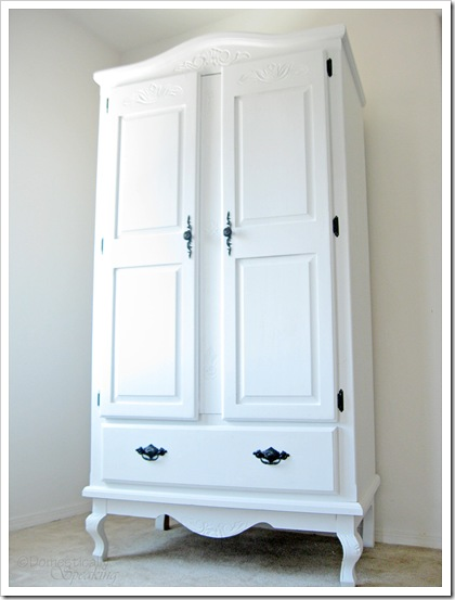 $25 Craiglist Armoire updated with Paint